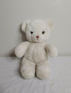 "Vintage 1983 GUND 14"" White Teddy Bear Stuffed Animal Plush Toy SANITIZED"
