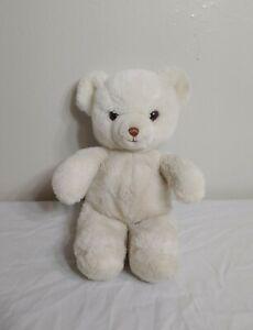 "Vintage 1983 GUND 14"" White Teddy Bear Stuffed Animal Plush Toy SANITIZED"