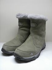 Women's THE NORTH FACE Olive Green Nubuck Leather Lined Ankle Boots Size 8.5
