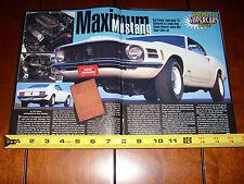 1970 FORD MUSTANG 428 SUPER DRAG PACK - ORIGINAL 1998 ARTICLE