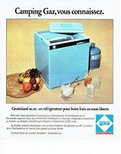 PUBLICITE ADVERTISING 037  1975  Camping Gaz   le réfrigérateur Groenland
