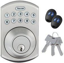 Electronic Deadbolt Door Lock Key Code Remote Control Stainless Steel Security