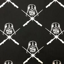 1/2 M Star Wars Power Black White Sewing Quilting Fabric Cotton