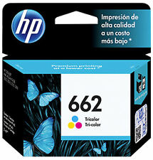 NEW HP 662 TRI-COLOR Original Ink Cartridge Deskjet CZ104AL, Inkjet