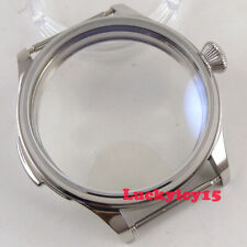 Eta 6497 6498 St3600 hand winding movement Vintage Parnis 44mm Ss watch case fit