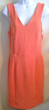 (NWT) Kim Kardashian Junior's Size-Large Bright Orange Fitted Sleeveless Dress