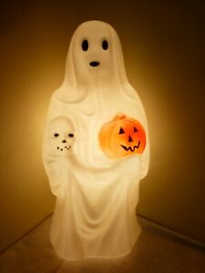 "Vintage Halloween Empire Ghost Pumpkin Skull Blow Mold 23"" Yard Decoration light"