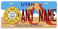 Utah Fire Any Name Personalized Novelty Car License Plate