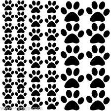 Sticker Planche Empreintes pattes de chats, Animaux 30x30cm, 18 coloris (EMP004)