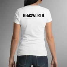 Team Hemsworth Womens T-Shirt Miley Cyrus We Love Liam Tee New