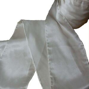 Dekoband Satin 12.5naturweiß ungefärbt100% Seide10cm breit
