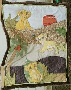 Lion King Simba Disney Baby Crib Comforter Blanket Quilted Nursery 34 x 43