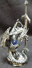 """POSSESSION  Dragon Sword on Rock with Crystal  Letter opener Figure Statue H6.5"""""""
