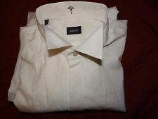 JOOP! SMART ELEGANT DESIGNER WHITE TUXEDO DRESS SHIRT UK 16 EU 41