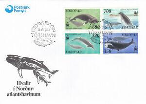 (90236) Faroe Islands FDC Whales 1990