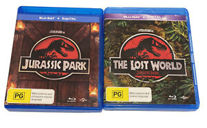 Jurassic Park And Jurassic Park The Lost World Blu Ray