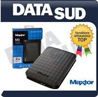 HARD DISK ESTERNO 2,5 USB 3.0 2TB 2000GB MAXTOR - AUTOALIMENTATO - STSHX-M201TCB