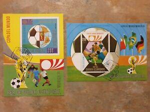 Football Munich 1974  -  2 mini/ souvenir sheets