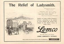 More details for 1900 antique print- advert- lemco-the relief of ladysmith