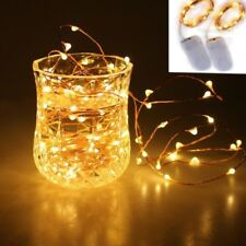 1M Warm White10 LEDs Battery Power Operated Copper Wire Mini Fairy Light String