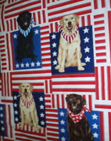 Patriotic Dogs labs flags Americana Timeless Treasures fabric