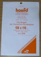 HAWID SCHAUFIX Block MOUNTS CLEAR Pack of 10 156mm x 116mm - Ref. No.2235