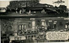 Town Restaurant Big Fish Sign New Brunswick New Jersey Nj Interior Postcard