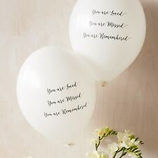 Angel & Dove 10 White 'You Are Loved' Biodegradable Latex Funeral Balloons