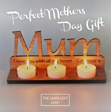 Personalised Mothers Day Tea Light Gift, Bespoke, Fun, Quirky,