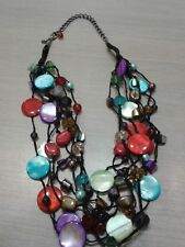 "PREMIER DESIGNS necklace, 22"" long, great condition,  multi strand,"