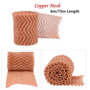 6m/15m Copper Mesh Blocker Pest&Rodent Net Control Repellent for Mice Snakes Bat