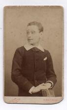 PHOTO ANCIENNE CDV Portrait NADAR Vers 1880 Paris Jeune Garçon Louis Labbé Main