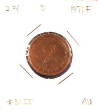 2 Pfennig 1971F German Current Coin Copper Plated Steel Almost Uncirculated