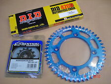 New Suzuki RM 85 02-15 RM 80 89-01 DID Chain And 48 T Racefx Blue Sprocket Kit