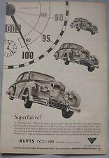 1954 Alvis TC.21/100 Original advert No.2
