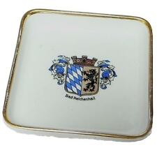 Vintage Heinrich Selb H & C Bavaria Germany Ashtray Square Dish Advertising