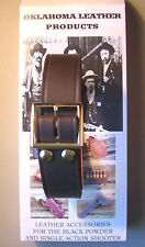 Brown Leather Holster Belt- Fits Most Western Style Holsters - U.S. Made Quality