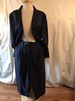 Vintage Louis Feraud Women Pant / Blazer Suit Size 16 Made in Slovenia