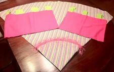 """Baby Girl/Big Girls Decor Accent Table Cloth 70"""" w/ 2 Valances Pink Green Tab"""