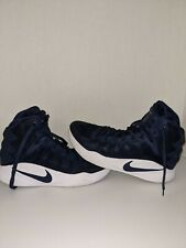 Nike Mens Navy & White Nike Zoom Hyperdunk High Top Shoes Size 10