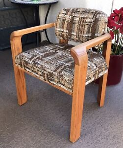 6 Generation '80 Chairs Solid Wood Original Upholstery Mid Century Vintage