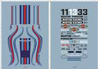 1/12 Porsche 935 martini racing car panel Markings Model Kit Water Slide Decal