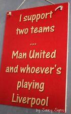 Manchester United Versus Liverpool EPL Football Soccer Wall Bar Pub Man U Sign