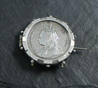 Army Temperance Association Medal Queen Victoria 1837-1897 Silver Brooch