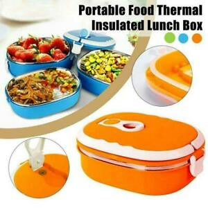 Thermal Insulated Food Container Hot Food Warmer Kids School Lunch Box Hot UK