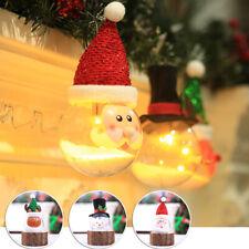 Navidad Transparente Bolas Árbol de Adorno Decoración Santa Muñeco Nieve