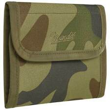 Brandit Wallet Five Mens Military EDC Outdoor Trifold Cards Coins Woodland Camo