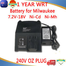 Battery Charger for MILWAUKEE AEG ATLAS 7.2V-18V 12V 14.4V Ni-Cd Ni-MH COPCO AU