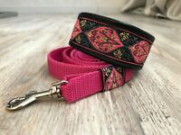 Martingale dog collar & lead Italian greyhound whippet lined with leather 1.6''
