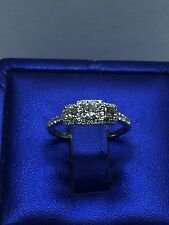 Zales ring PAST PRESENT FUTURE Engagement 0.50 ctw 14k White Gold Ring sz 5 1/4